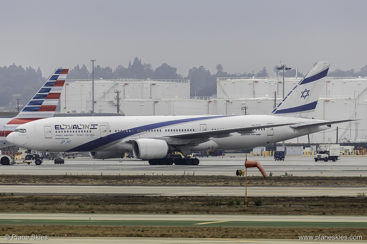 El Al Boeing 777-200ER 4X-ECB at Los Angeles International Airport (KLAX/LAX)