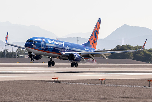 Sun Country Airlines Boeing 737-800 N801SY at McCarran International Airport (KLAS/LAS)
