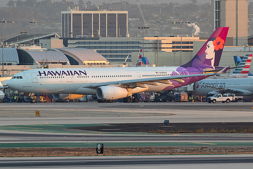 Hawaiian Airlines Airbus A330-200 N395HA at Los Angeles International Airport (KLAX/LAX)