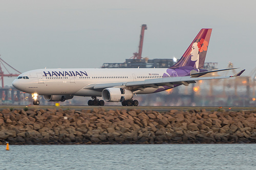 Hawaiian Airlines Airbus A330-200 N360HA at Sydney Kingsford Smith International Airport (YSSY/SYD)