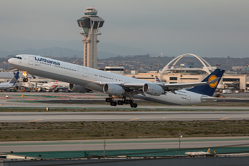 Lufthansa Airbus A340-600 D-AIHF at Los Angeles International Airport (KLAX/LAX)