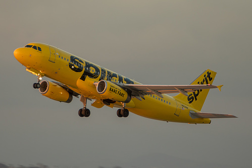 Spirit Airlines Airbus A320-200 N604NK at Los Angeles International Airport (KLAX/LAX)