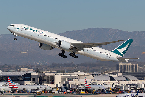 Cathay Pacific Boeing 777-300ER B-KPQ at Los Angeles International Airport (KLAX/LAX)