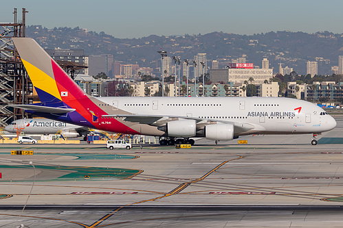 Asiana Airlines Airbus A380-800 HL7641 at Los Angeles International Airport (KLAX/LAX)