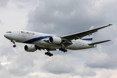 El Al Boeing 777-200ER 4X-ECF at London Heathrow Airport (EGLL/LHR)