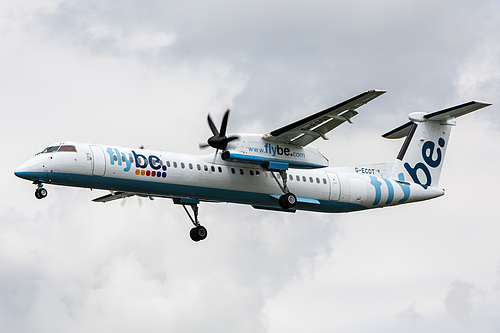 Flybe DHC Dash-8-400 G-ECOT at London Heathrow Airport (EGLL/LHR)
