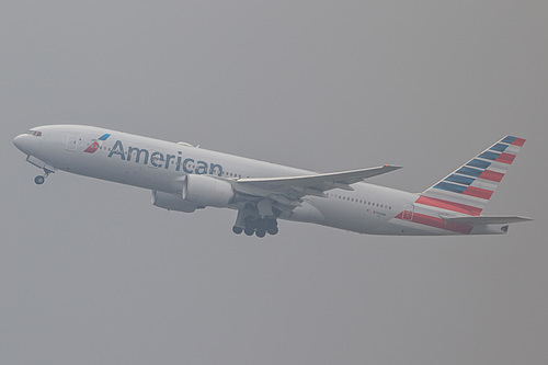 American Airlines Boeing 777-200ER N756AM at London Heathrow Airport (EGLL/LHR)