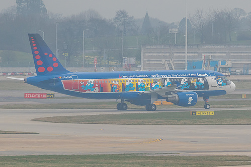 Brussels Airlines Airbus A320-200 OO-SND at London Heathrow Airport (EGLL/LHR)