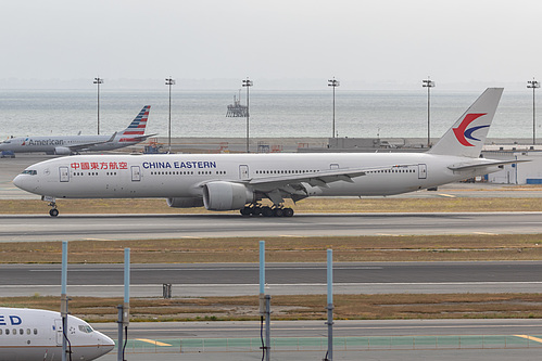 China Eastern Airlines Boeing 777-300ER B-7349 at San Francisco International Airport (KSFO/SFO)