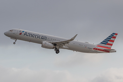 American Airlines Airbus A321-200 N158AN at San Francisco International Airport (KSFO/SFO)