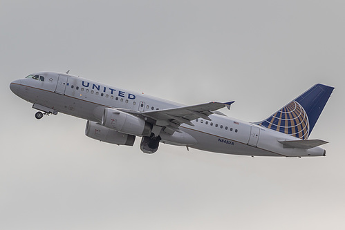United Airlines Airbus A319-100 N843UA at San Francisco International Airport (KSFO/SFO)