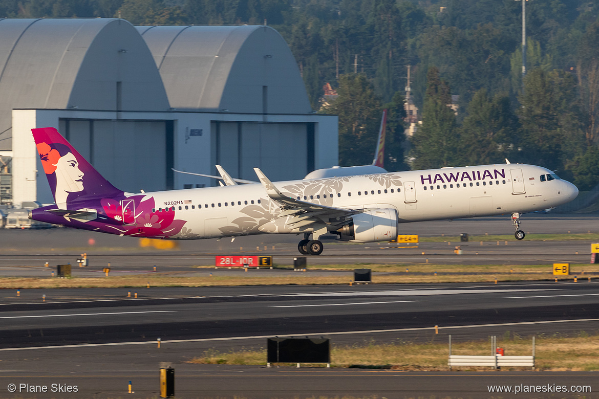 Hawaiian Airlines Airbus A321neo N202HA at Portland International Airport (KPDX/PDX)