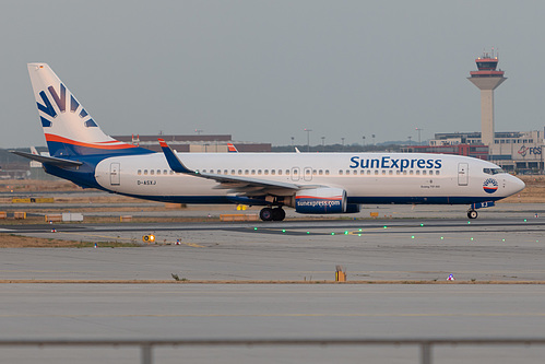 SunExpress Deutschland Boeing 737-800 D-ASXJ at Frankfurt am Main International Airport (EDDF/FRA)