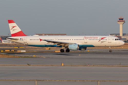 Austrian Airlines Airbus A321-200 OE-LBE at Frankfurt am Main International Airport (EDDF/FRA)