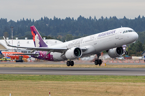 Hawaiian Airlines Airbus A321neo N214HA at Portland International Airport (KPDX/PDX)