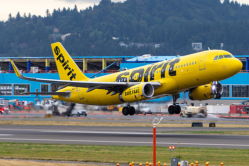 Spirit Airlines Airbus A320-200 N647NK at Portland International Airport (KPDX/PDX)